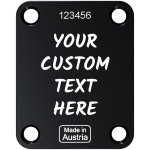 Black Neck Plate Custom Engraved