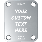 Chrome Neck Plate Custom Engraved