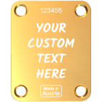 Gold Neck Plate Custom Engraved